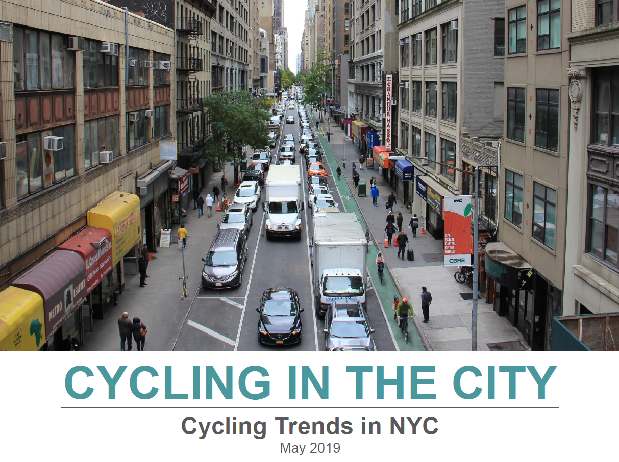 "The cover slide of the ""Cycling in the City"" report"