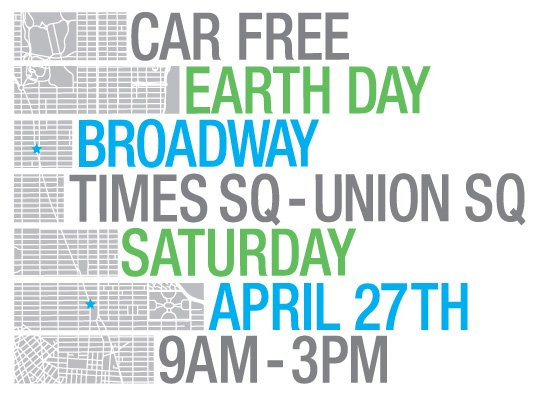 Graphic detailing the details of the Car Free Earth Day Event.