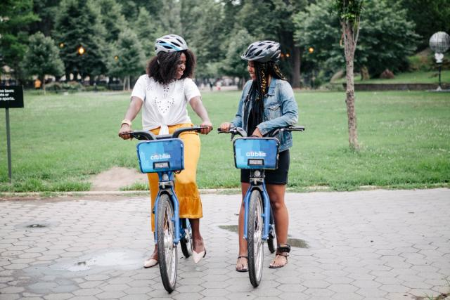You women of color with Citi Bikes.
