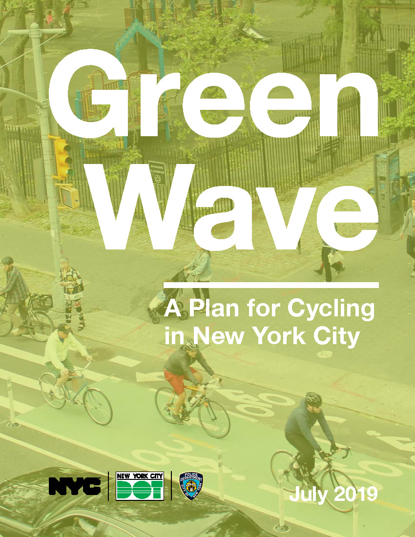 "The cover slide of the ""Green Wave"" report"