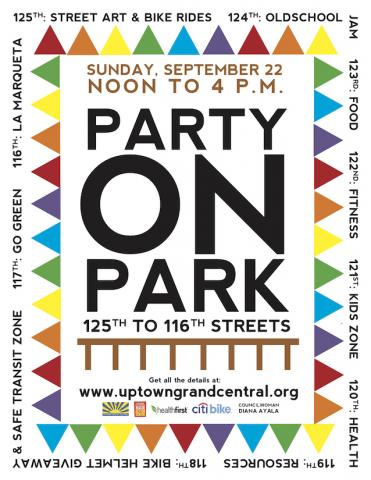 A flyer for Party on Park.
