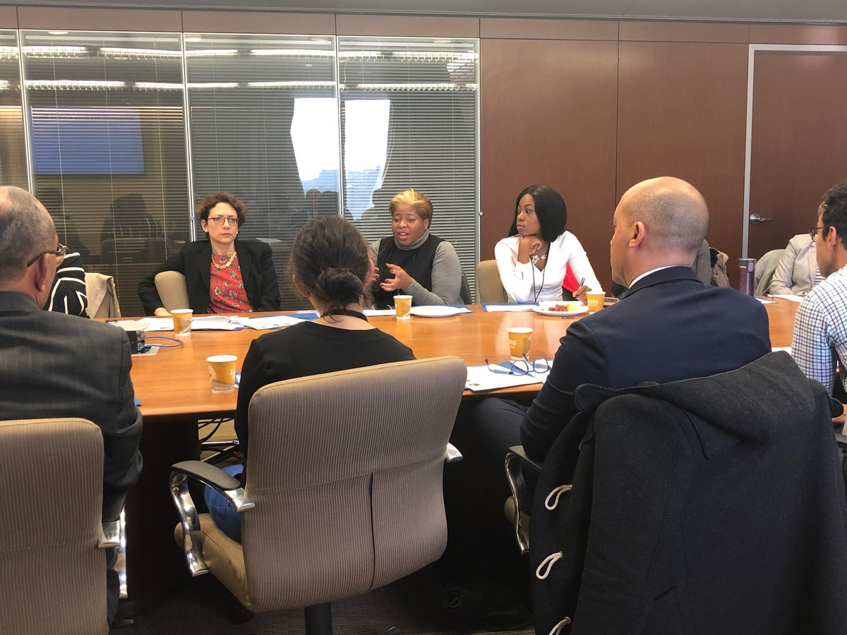 Another photo of the Equity Board during the meeting. In the middle-left of the photo is DOT Commissioner Polly Trottenberg.